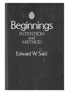 Beginnings: Intention and Method
