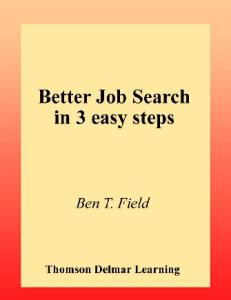 Better Job Search in 3 Easy Steps