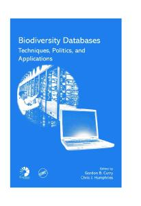 Biodiversity Databases: Techniques, Politics, and Applications (Systematics Association Special Volume)