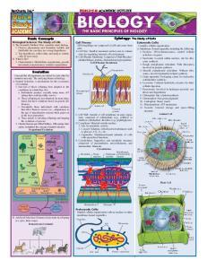 Biology the basic principles of biology
