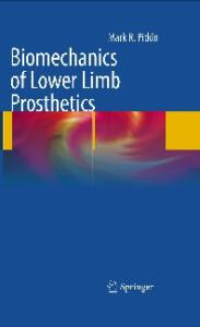 Biomechanics of Lower Limb Prosthetics