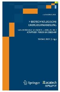 Biotechnologische Energieumwandlung: Gegenwartige Situation, Chancen und kunftiger Forschungsbedarf (acatech DISKUTIERT)