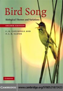 Bird song : biological themes and variation