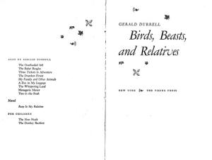 Birds beasts relatives