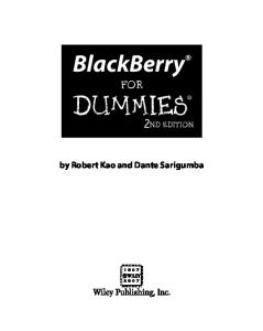 BlackBerry For Dummies, 2nd Edition (For Dummies (Computer Tech))