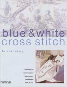 Blue & White Cross Stitch