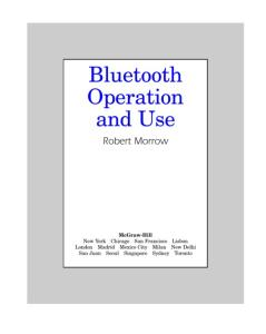 Bluetooth Operation and Use