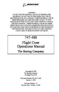 Boeing 747-400 Flight Crew Operations Manual