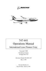 Boeing 747-400 Operations Manual