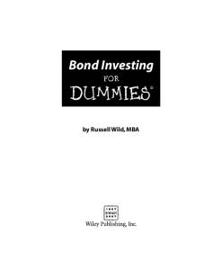 Bond Investing For Dummies (For Dummies (Business & Personal Finance))