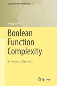 Boolean function complexity. Advances and frontiers