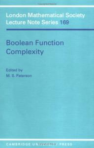 Boolean Function Complexity (London Mathematical Society Lecture Note Series)