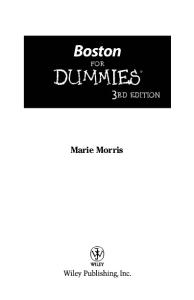 Boston For Dummies, 3rd edition (Dummies Travel)