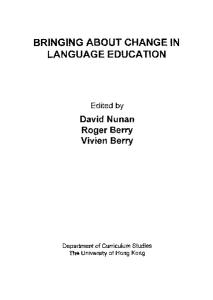 Bringing about change in language education