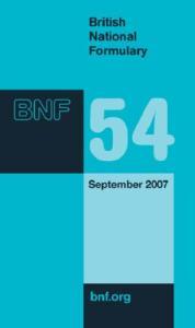 British National Formulary (BNF) 54: September 2007