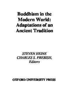 Buddhism in the Modern World: Adaptations of an Ancient Tradition