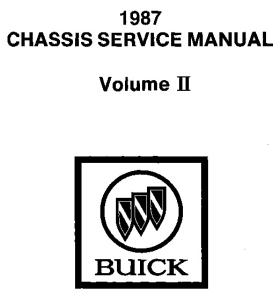 Buick Grand National Electrical Diagnosis Manual section 8A