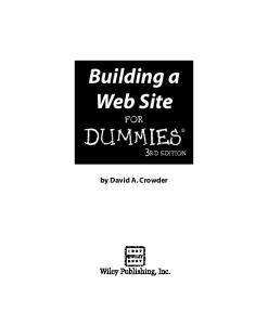 Building a Web Site For Dummies, 3rd Edition (For Dummies (Computer Tech))