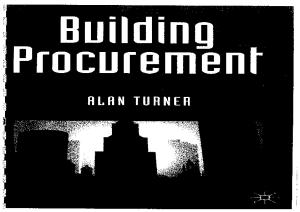 Building Procurement (Building & Surveying)