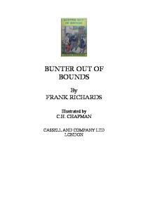 Bunter Out of Bounds