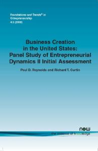 Business Creation in the United States