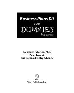 Business Plans Kit For Dummies (Second Edition with CD)