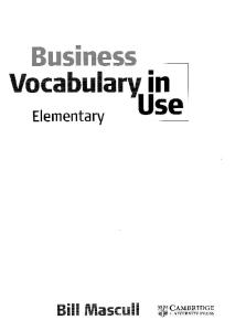 Business Vocabulary in Use (Elementary)