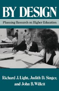By Design: Planning Research on Higher Education