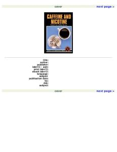 Caffeine and Nicotine (Drug Abuse Prevention Library)
