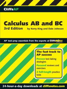 Calculus AB and BC  (Cliffs AP)