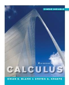 Calculus: Single Variable, 2nd Edition