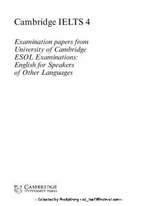 Cambridge IELTS 2 Student's Book with Answers : Examination Papers