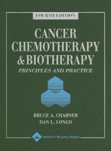 Cancer Chemotherapy and Biotherapy Principles and