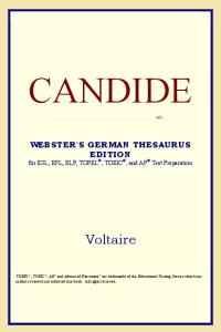 Candide (Webster's German Thesaurus Edition)