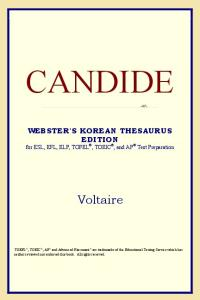 Candide (Webster's Korean Thesaurus Edition)