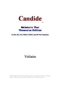 Candide (Webster's Thai Thesaurus Edition)