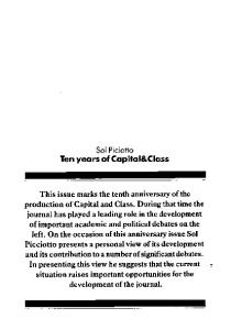 Capital & Class. - 1986. - Issue 30  issue 30