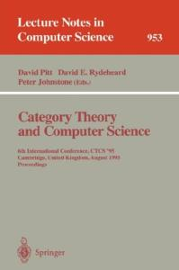 Category Theory and Computer Science 1989