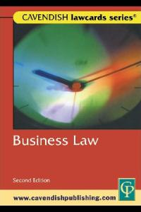 Cavendish: Business Lawcards