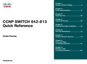 CCNP SWITCH 642 813 Quick Reference