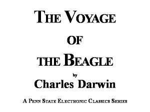 Charles Darwin's Voyage of the Beagle Round the World