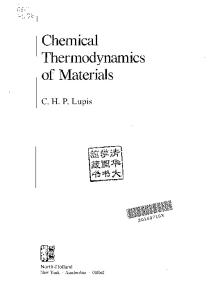 Chemical Thermodynamics of Materials