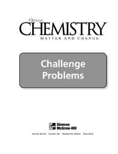 Chemistry: Matter and Change Challenge Problems