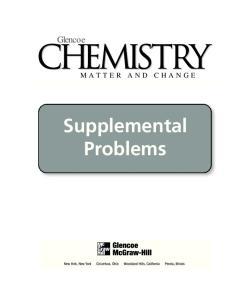 Chemistry Matter and Change Supplemental Problem