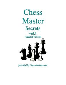 Chess Master Secrets