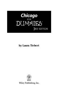 Chicago For Dummies (Dummies Travel)