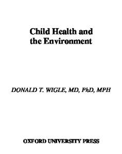 Child Health and the Environment (Medicine)
