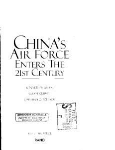 China's Air Force Enters the 21st Century (Project Air Force)
