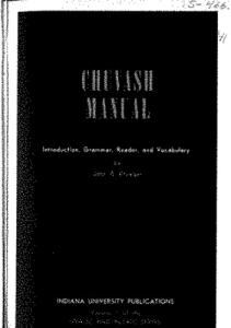 Chuvash manual - introduction, grammar, reader and vocabulary