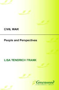 Civil War: People and Perspectives (Perspectives in American Social History)